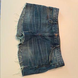 Gap jean shorts.